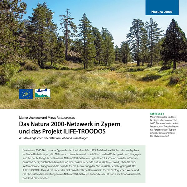 Article publication in the German journal ANLiegen Natur